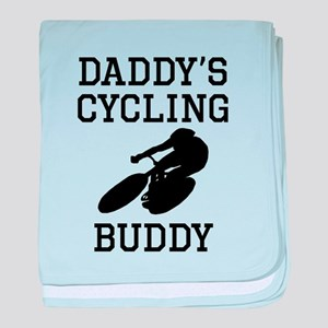 Daddys Cycling Buddy baby blanket